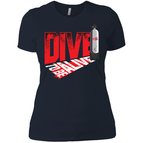 Image of Dive To Be Alive Ladies Tees and V-Neck