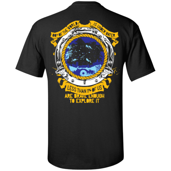 1% Is Brave Enough Tees and Tank Tops - scubadivingaddicts