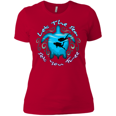 Let The Sea Set You Free Ladies V-Neck T-Shirt (Warehouse)