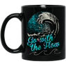 Go With The Flow Black Mug