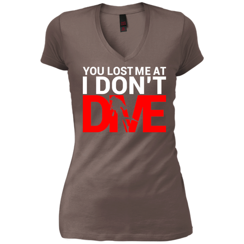 Image of You Lost Me At I Don't Dive Tees and V-Necks - scubadivingaddicts