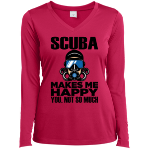 Scuba Makes Me Happy Long Sleeves
