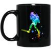 Scuba Colour Design Black Mugs