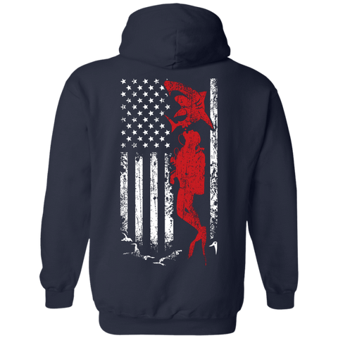 Image of USA Scuba Flag Hoodies - scubadivingaddicts