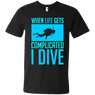 When Life Gets Complicated I Dive Tees - scubadivingaddicts