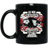 All Men Are Created Equal Then A Few Become Scuba Divers Black Mug - scubadivingaddicts