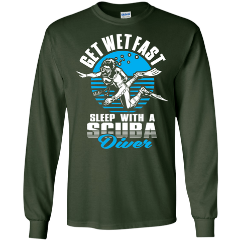 Image of Get Wet Fast Sleep With A Scuba Diver Long Sleeves