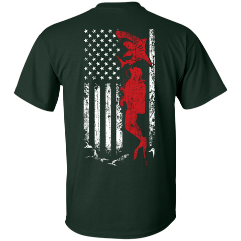 Image of USA Scuba Flag Tees - scubadivingaddicts
