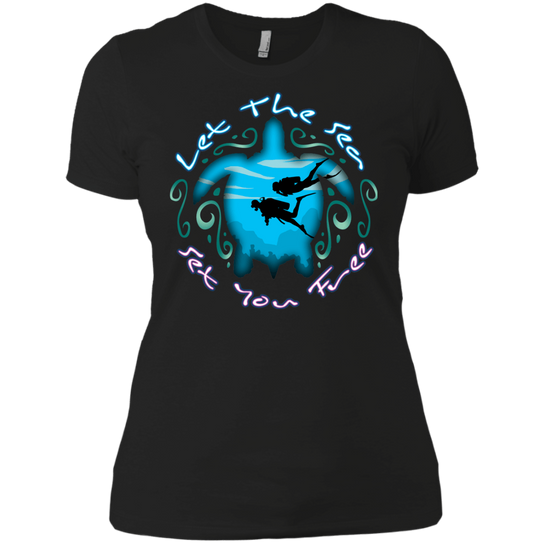Let The Sea Set You Free Ladies Tees and V-Necks