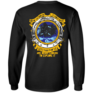 1% Is Brave Enough Long Sleeves - scubadivingaddicts