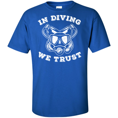 In Diving We Trust  Men's Tees and V-Neck