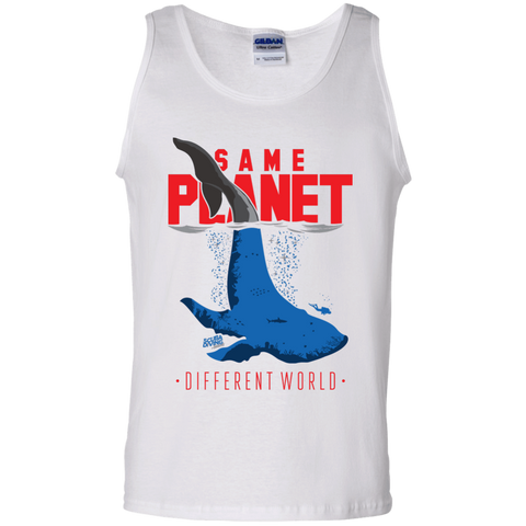 Image of Same Planet - Different Worlds Red Tank Tops