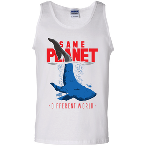 Same Planet - Different Worlds Red Tank Tops