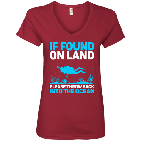 Image of If Found On Land Please Throw Back Into The Sea Ladies Tees