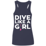 Dive Like A Girl Tank Tops