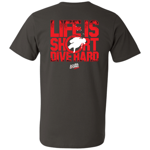 Image of Life Is Short, Dive Hard Men's Tees and V-Neck