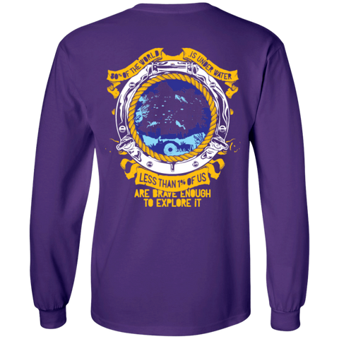 Image of 1% Is Brave Enough Long Sleeves - scubadivingaddicts