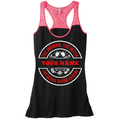 Personalized The Woman, The Myth, The Scuba Diving Legend Tank Tops