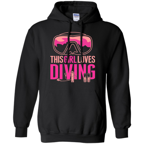 Image of This Girl Loves Diving Hoodies