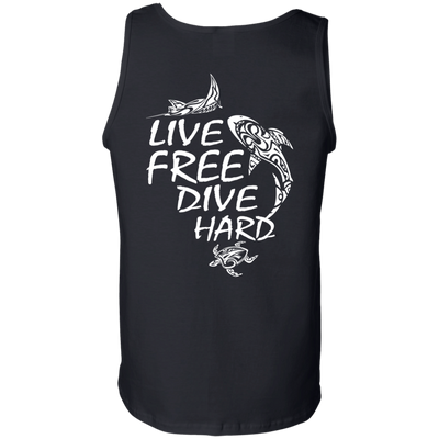 Live Free Dive Hard Tank Tops