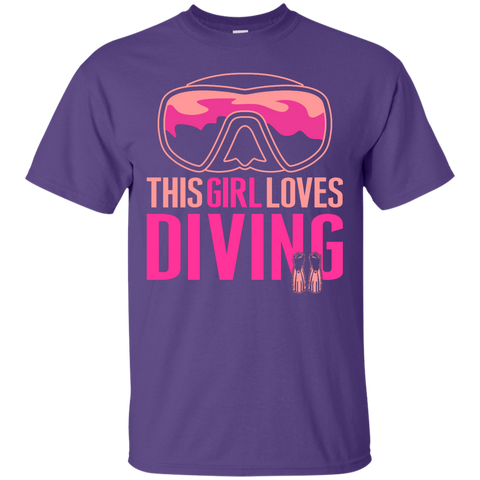Image of This Girl Loves Diving (Freediving Version) Tees