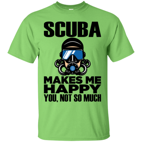 Image of Scuba Makes Me Happy Men's Tees and V-Neck