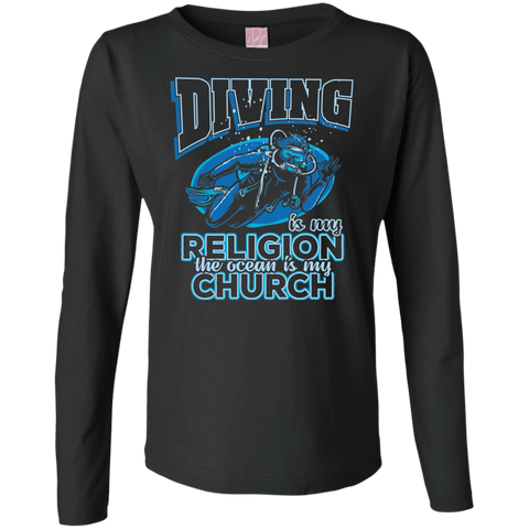 Image of Diving Is My Religion The Ocean Is My Church Long Sleeves