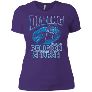 Diving Is My Religion The Ocean Is My Church V-Neck
