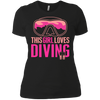 This Girl Loves Diving (Freediving Version) Tees