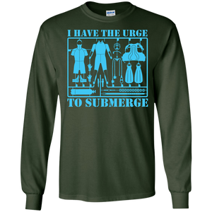 I Have The Urge To Submerge Long Sleeves - scubadivingaddicts