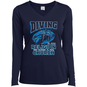 Diving Is My Religion The Ocean Is My Church Long Sleeves
