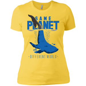 Same Planet - Different Worlds Ladies Tees and V-Neck