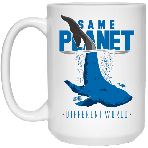 Image of Same Planet Different World White Mug