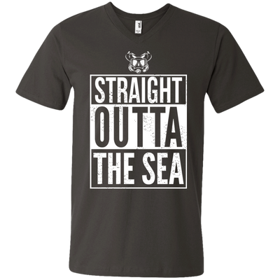 Straight Outta The Sea White - Men's Tees and V-Neck