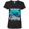 The Ocean Is Calling And I Must Go 2 -  V-Neck