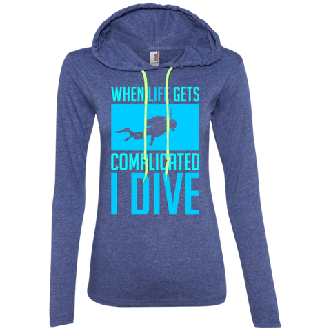 Image of When Life Gets Complicated I Dive Hoodies - scubadivingaddicts