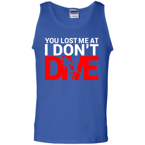 Image of You Lost Me At I Don't Dive Tank Tops - scubadivingaddicts