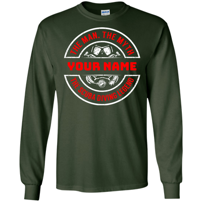 Personalized The Man The Myth The Scuba Legend Long Sleeves
