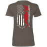 USA Scuba Flag Ladies Tees and V-Necks - scubadivingaddicts