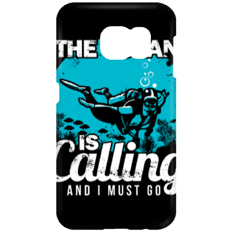 Image of The Ocean Is Calling And I Must Go Phone Cases