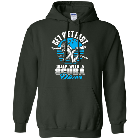 Image of Get Wet Fast Sleep With A Scuba Diver Hoodies