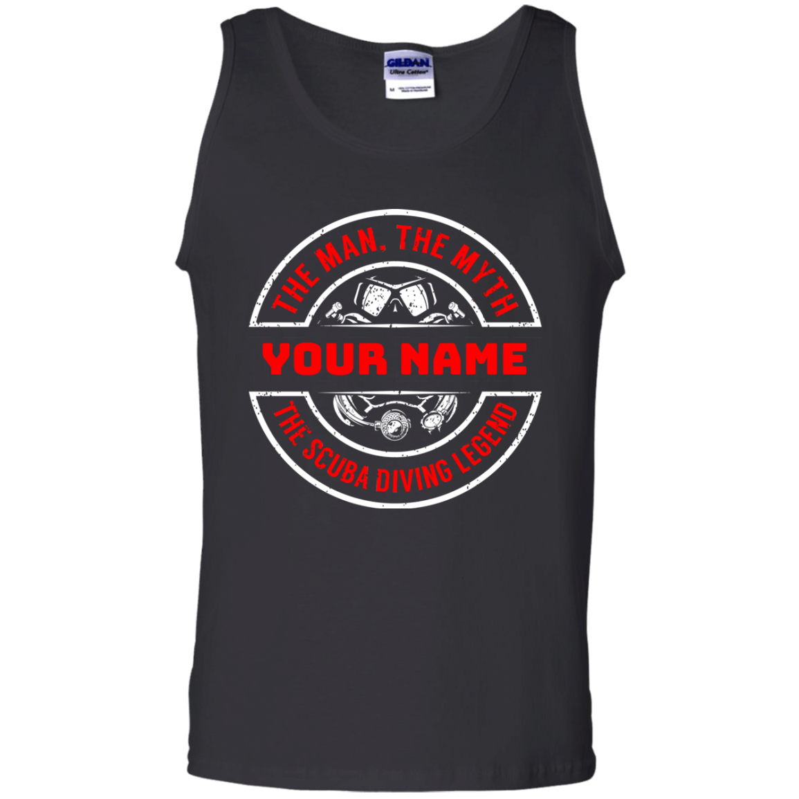 Personalized The Man The Myth The Scuba Legend Tank Tops