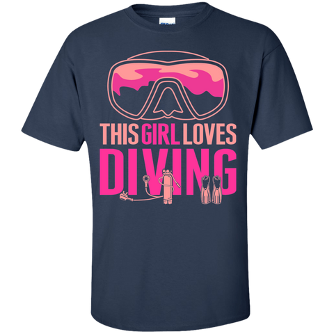 Image of This Girl Loves Diving Tees