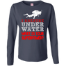 I Breathe Underwater What Is Your Superpower? Long Sleeves - scubadivingaddicts