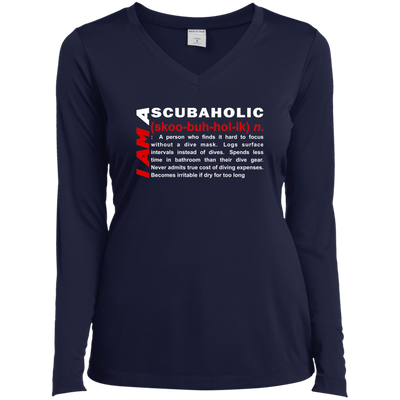I Am A Scubaholic Long Sleeves - scubadivingaddicts
