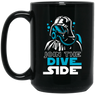 Join The Dive Side Black Mug