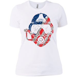USA Scuba Diver Ladies  Tees and V-Neck - scubadivingaddicts