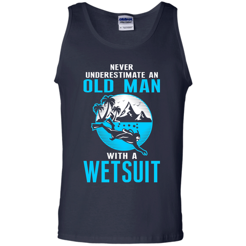 Image of Never Underestimate An Old Man With A Wetsuit - Tank Tops