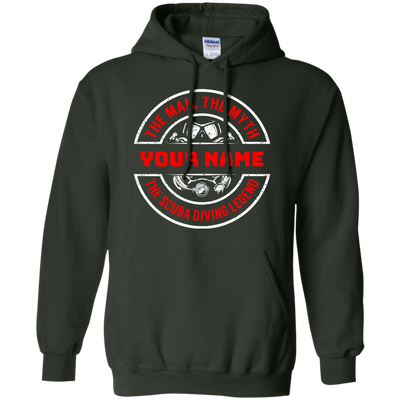 Personalized The Man The Myth The Scuba Legend Hoodies