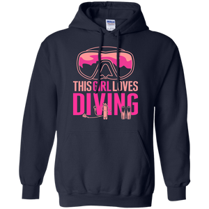 This Girl Loves Diving Hoodies